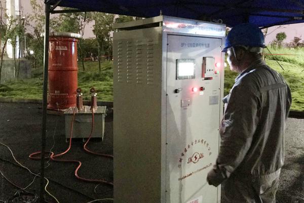 南宁轨道3号线110kV青湖变电站电缆试验