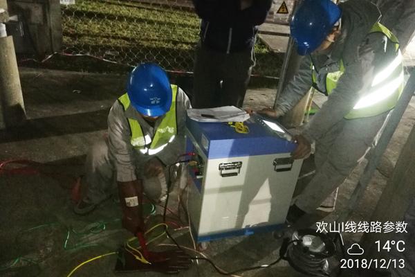 110kV 欢山Ⅰ线电缆改迁工程试验